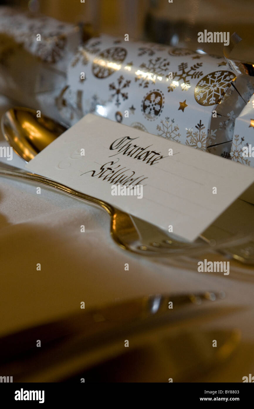 Cracker and calligraphy - Stock Image