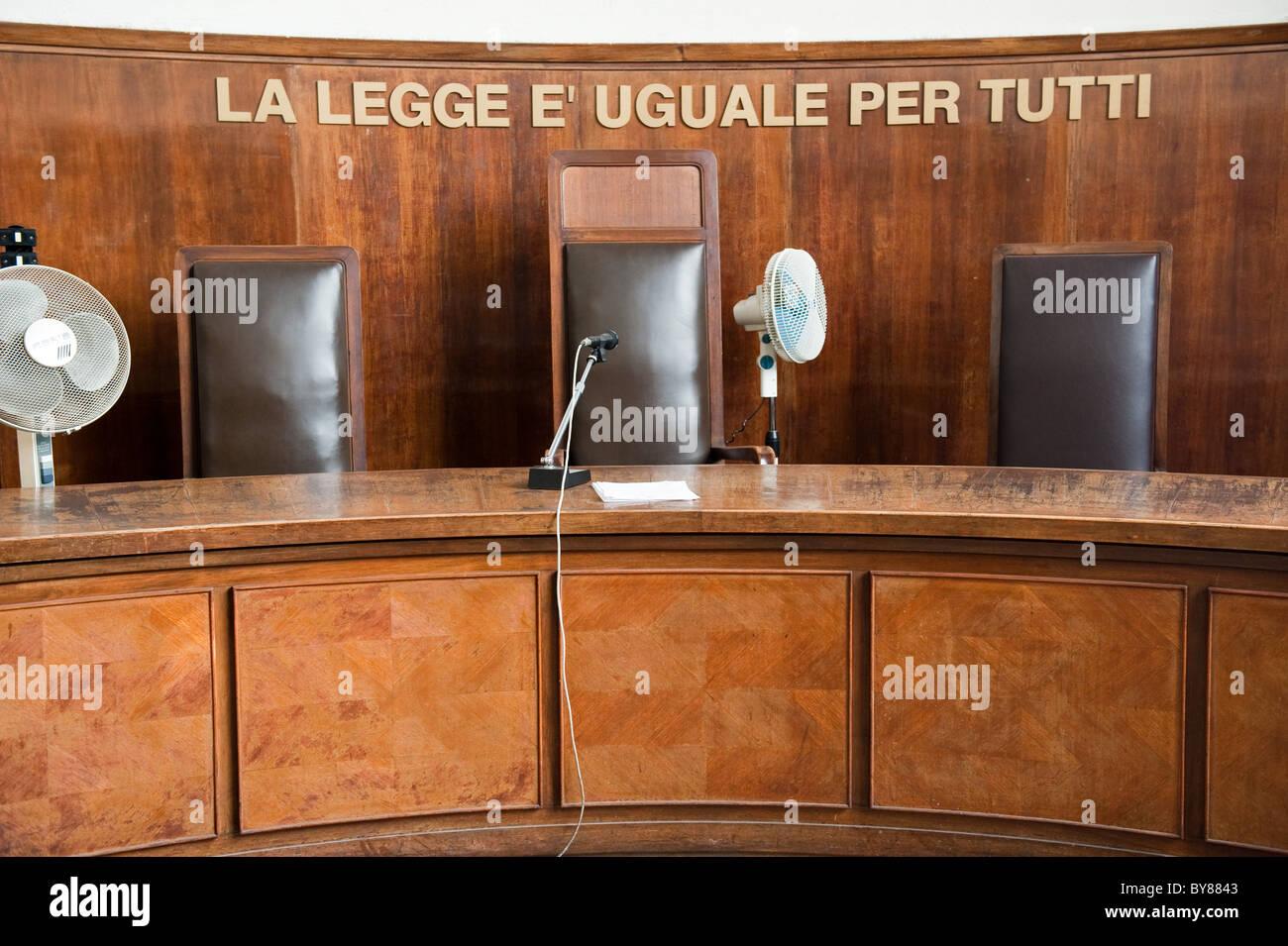 Design Per Tutti Com interior of a court milan tribunal italy with sign la legge