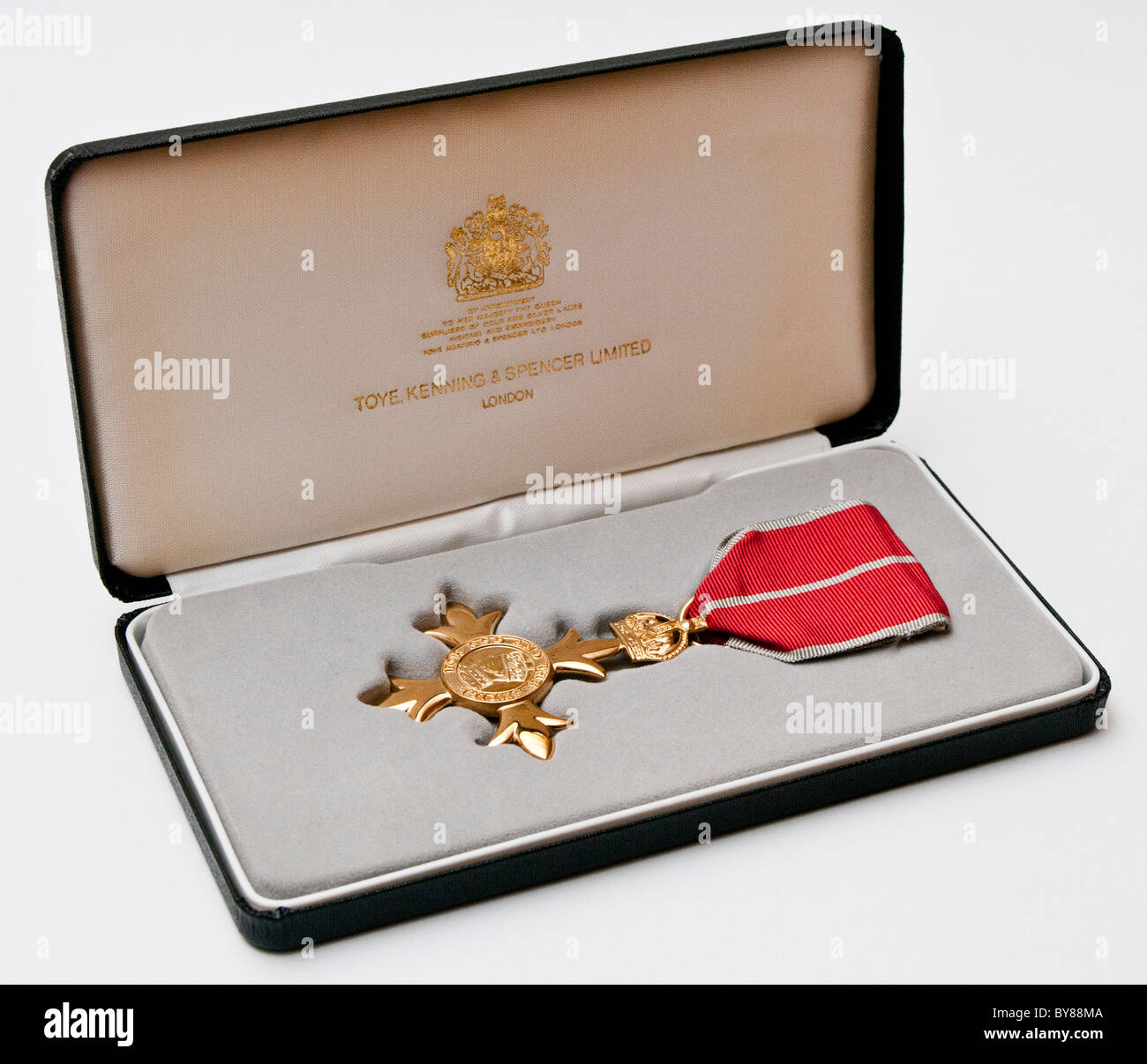 The OBE Medal |  The Most Excellent Order of the British Empire is an order of chivalry established in 1917 by King - Stock Image