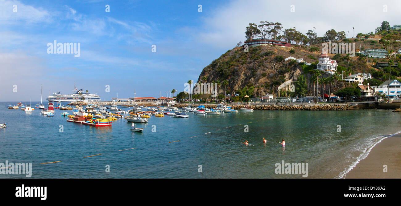 4469701912a2 Santa Catalina Island United States California Avalon Harbor Stock ...