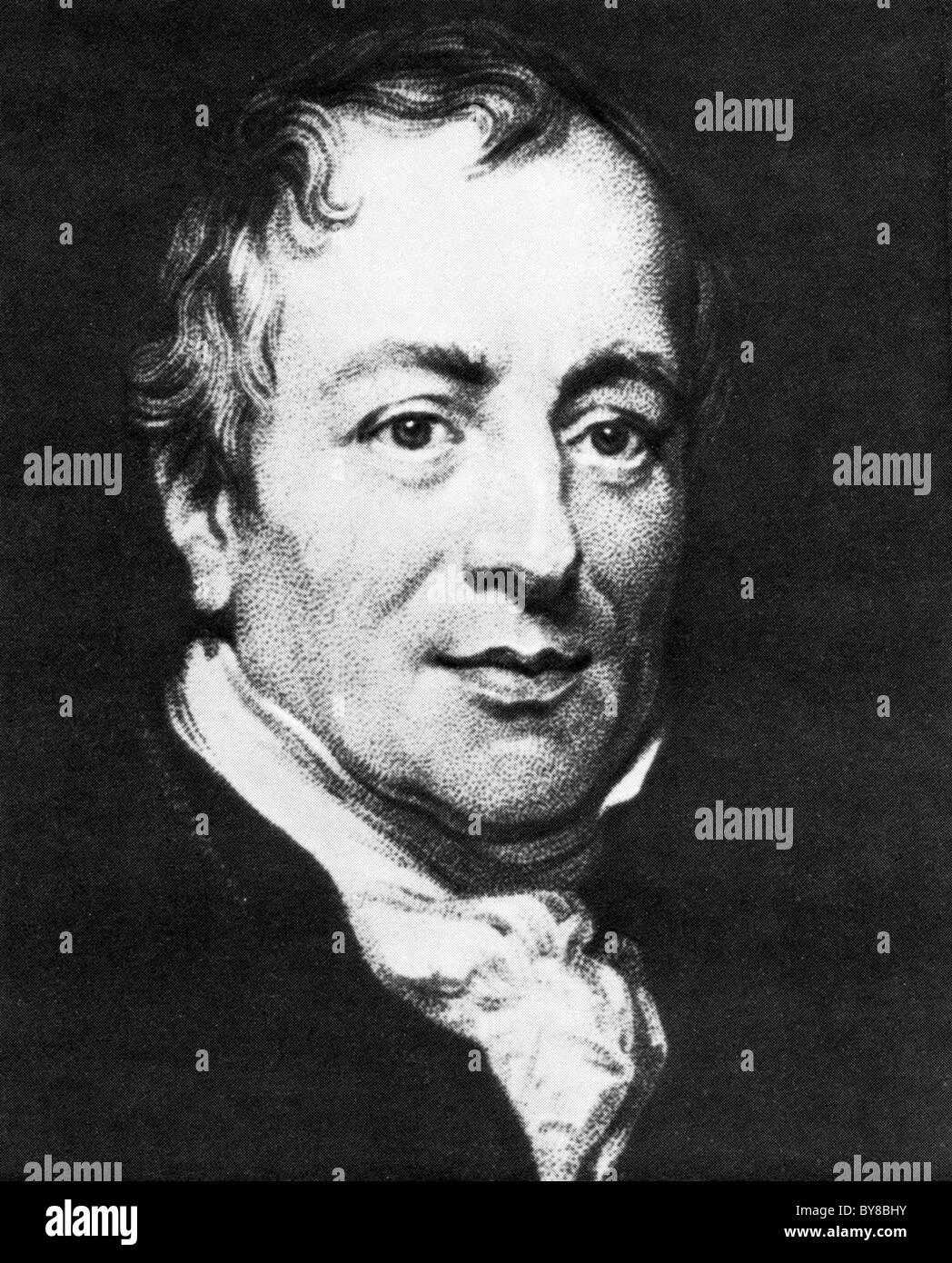 DAVID RICARDO (1772-1823) English political economist - Stock Image
