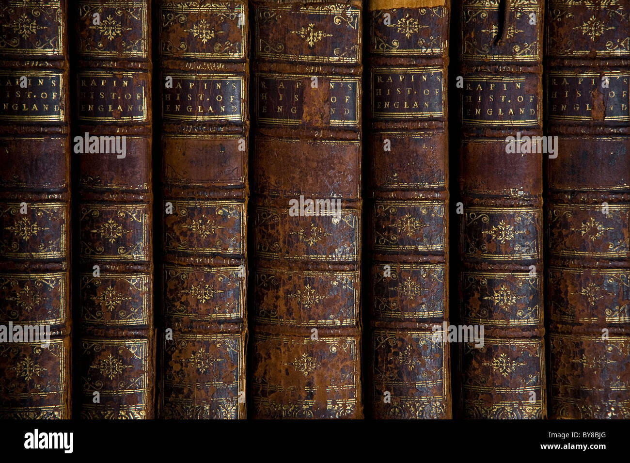 Old Books Detail - Stock Image