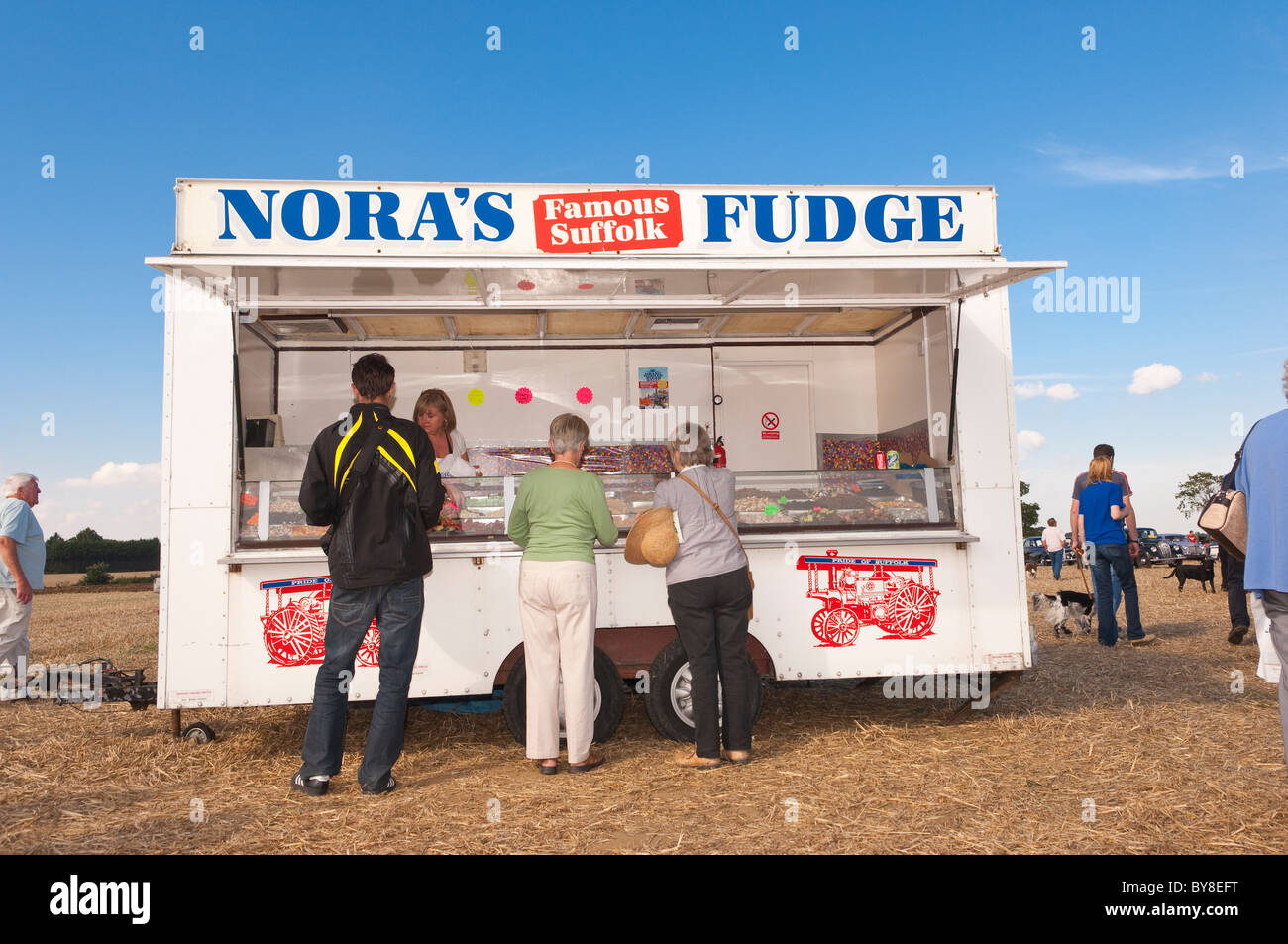 Nora's famous suffolk fudge on sale at a country fete in the Uk - Stock Image