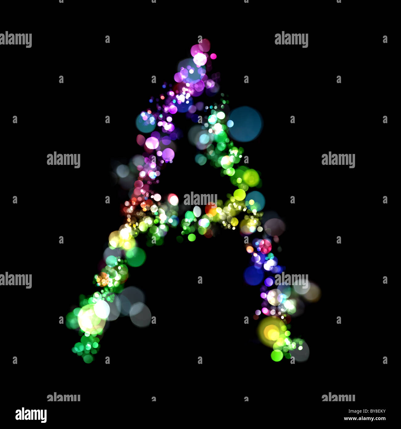 Lights In The Shape Of Letters