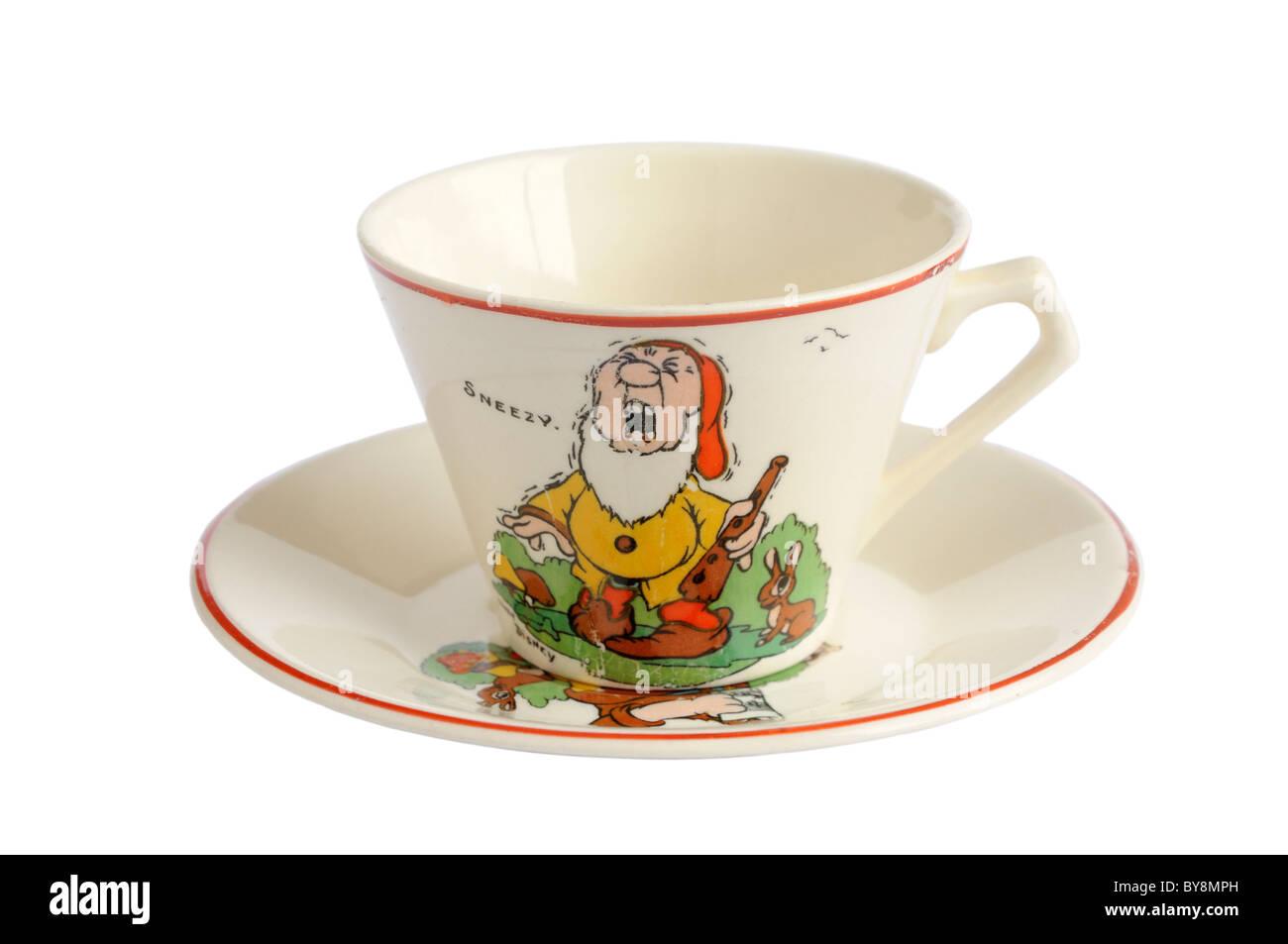 A 1930's Disney doll's tea cup - Stock Image