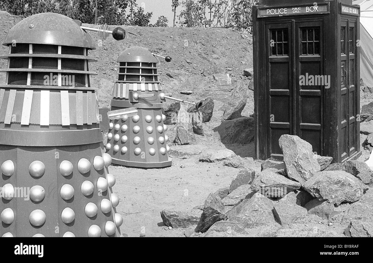 The Doctor Who garden at the Liverpool Garden Festival in 1984 - Stock Image