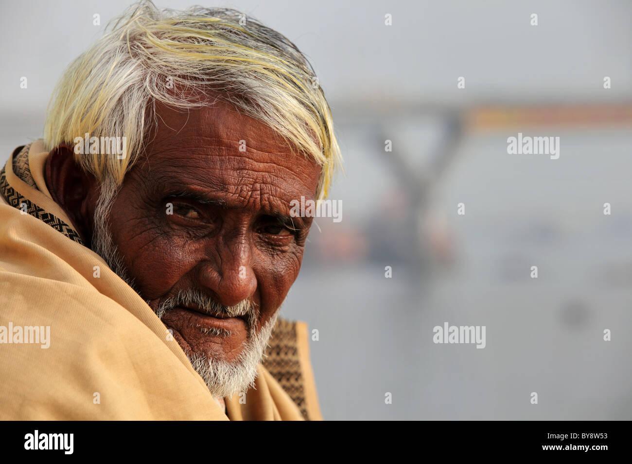 old man in Bangladesh - Stock Image