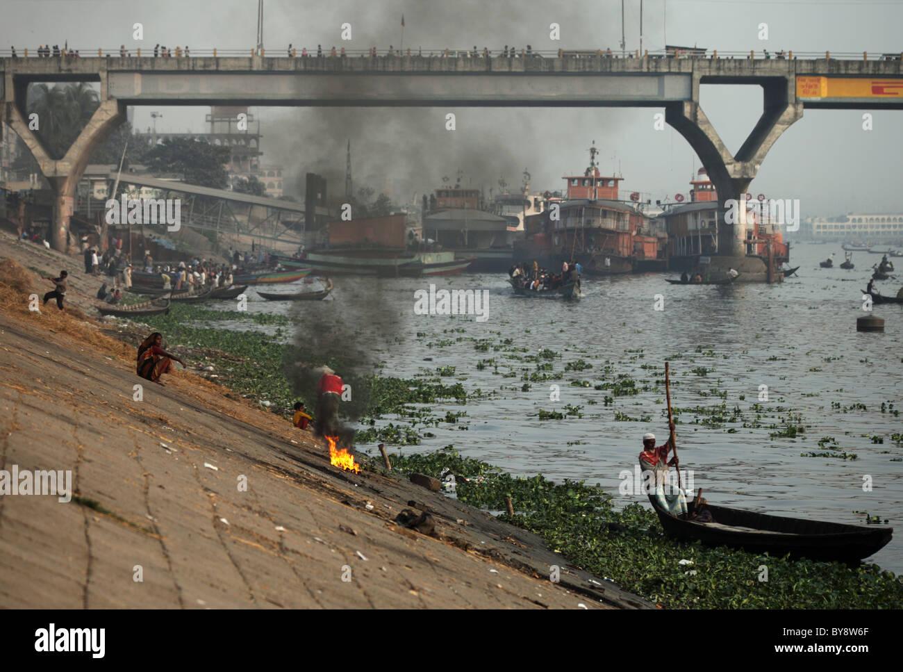 Bridge in Dhaka Bangladesh - Stock Image