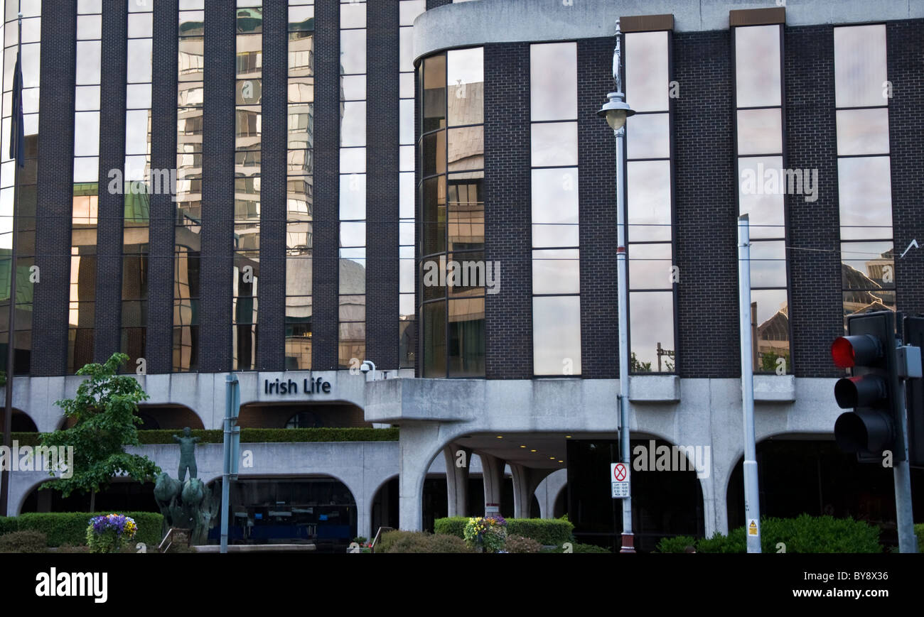 Irish Life Insurance HQ building in the capital - Stock Image