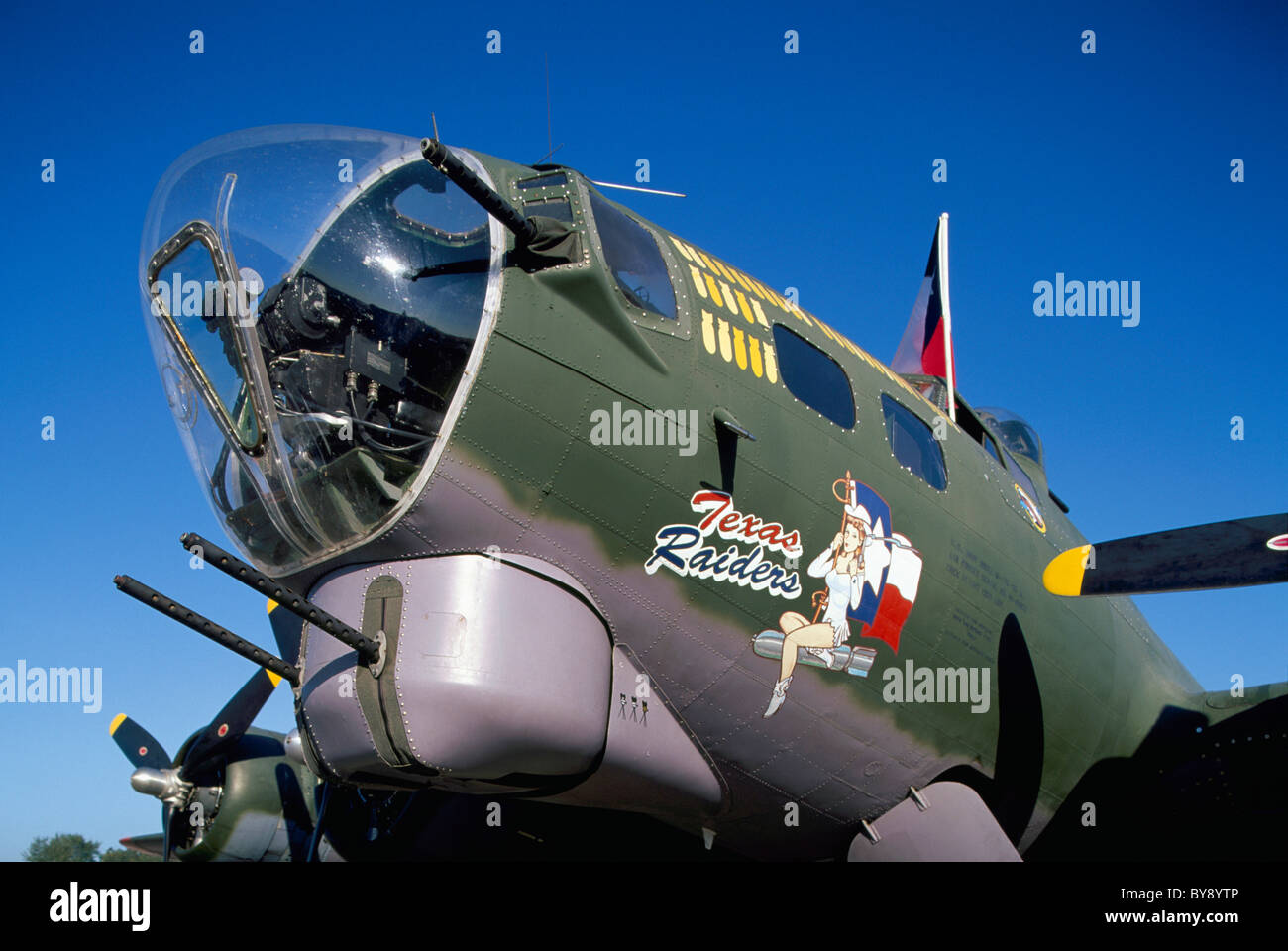 "Boeing B-17G Flying Fortress, Abbotsford International Airshow, BC, British Columbia, Canada - ""Texas Raiders"" on Stock Photo"