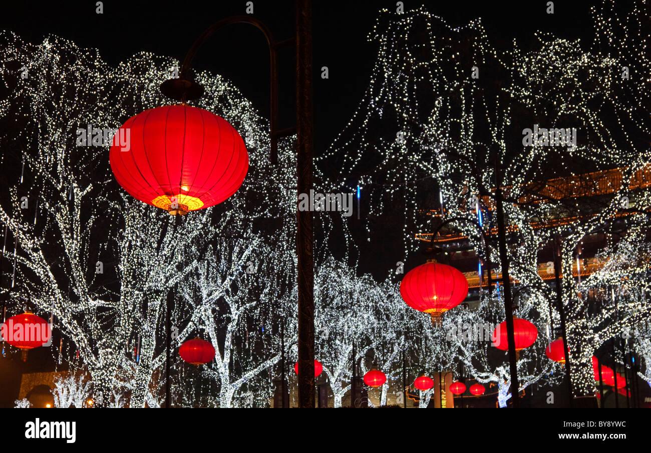 christmas chinese lantern xian china