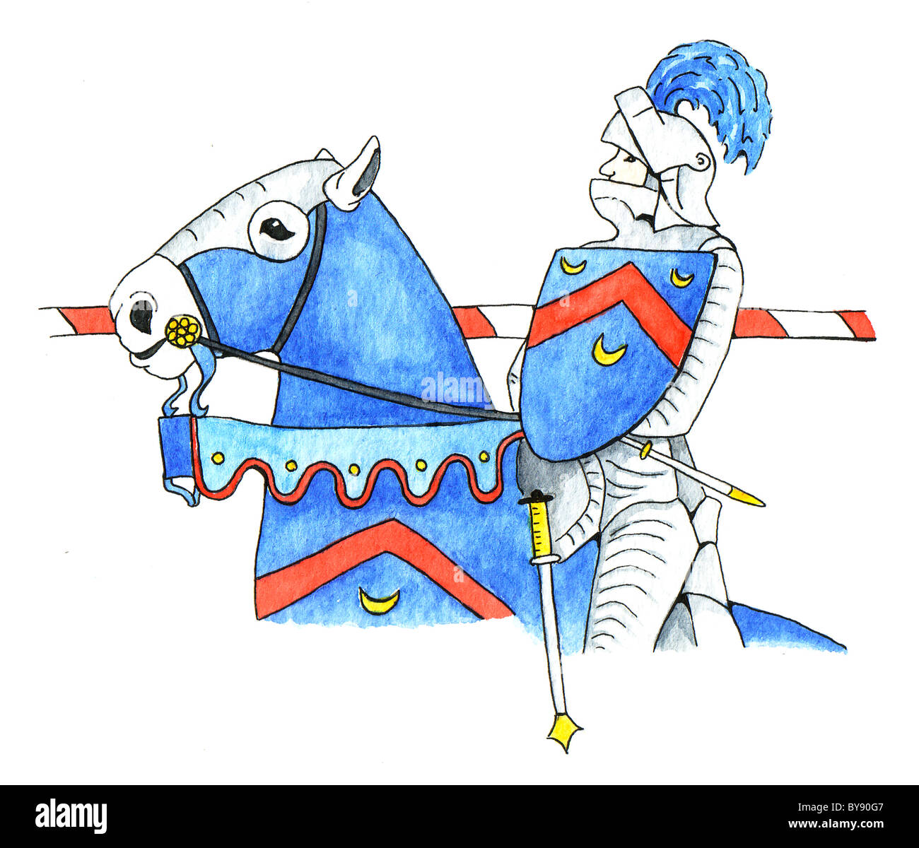 Knight Horse Cut Out Stock Images & Pictures - Alamy