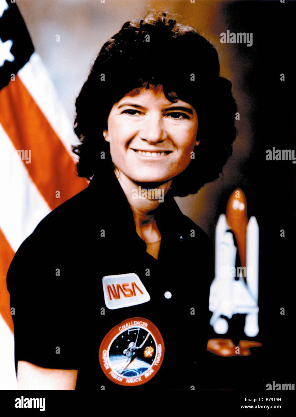 Dr. Sally Ride, first American woman in space - Stock Image