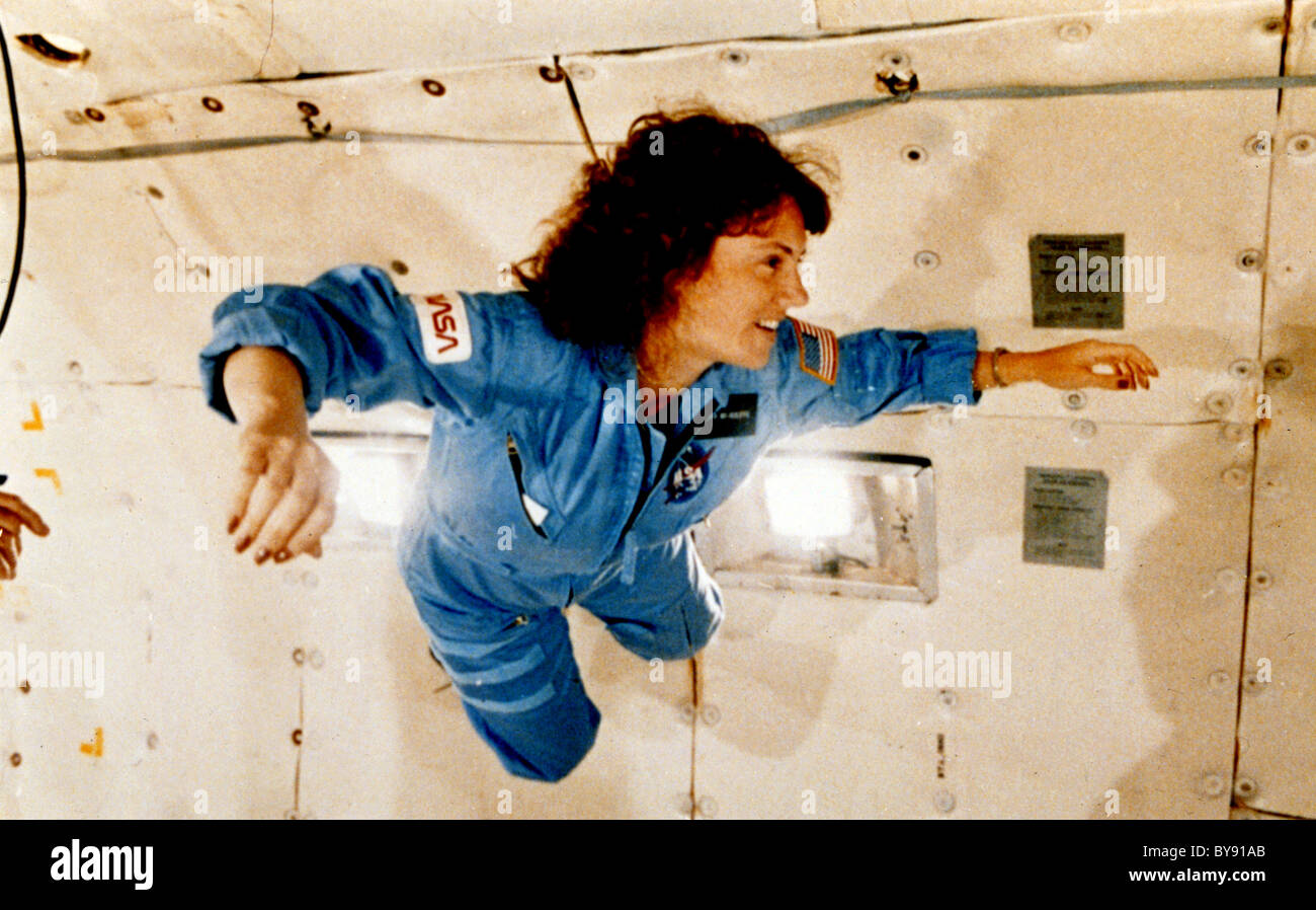 Space shuttle Challenger crew member Teacher in Space Participant Sharon Christa McAuliffe - Stock Image