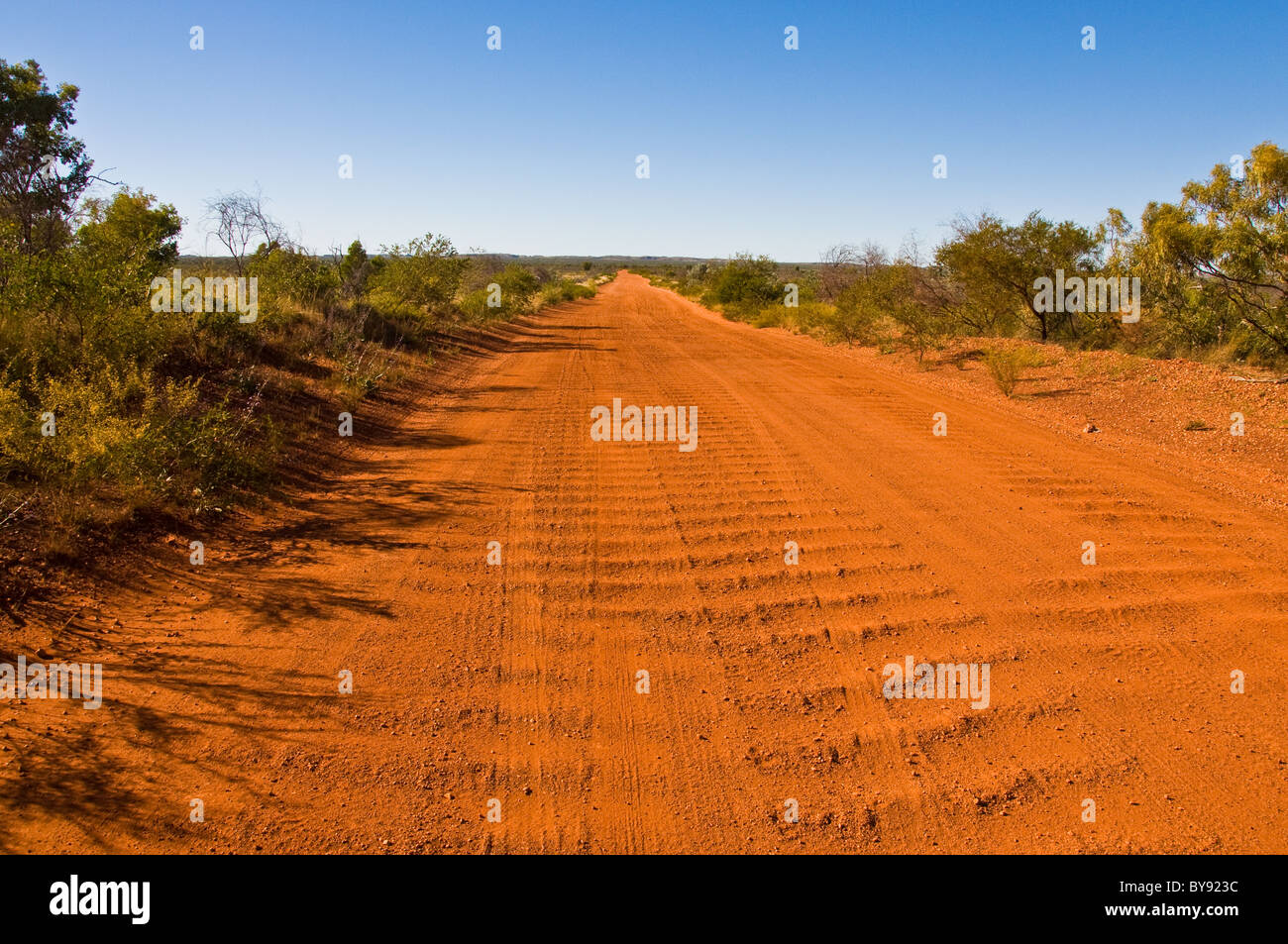 dirt road in the australian outback - Stock Image