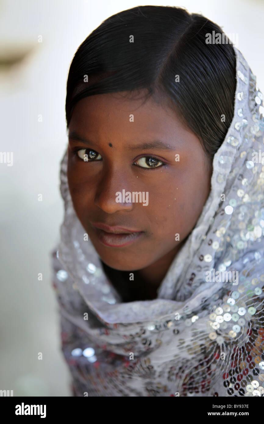 Young Girl In Bangladesh Cute Beautiful Asia Stock Image