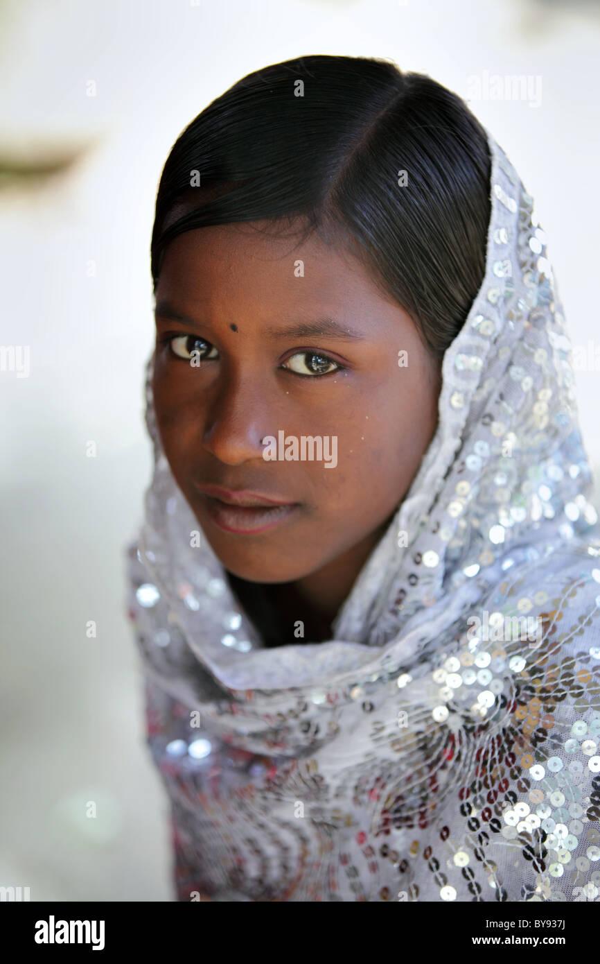 young girl in bangladesh cute beautiful asia stock photo: 34006214