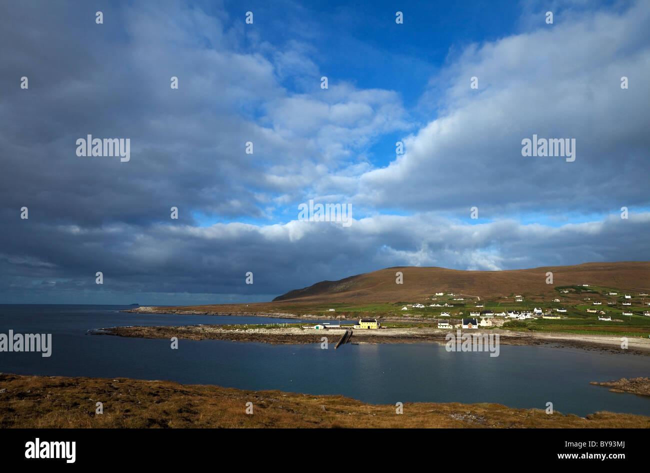Dooega Village on the Atlantic Drive, Achill Island, County Mayo, Ireland - Stock Image