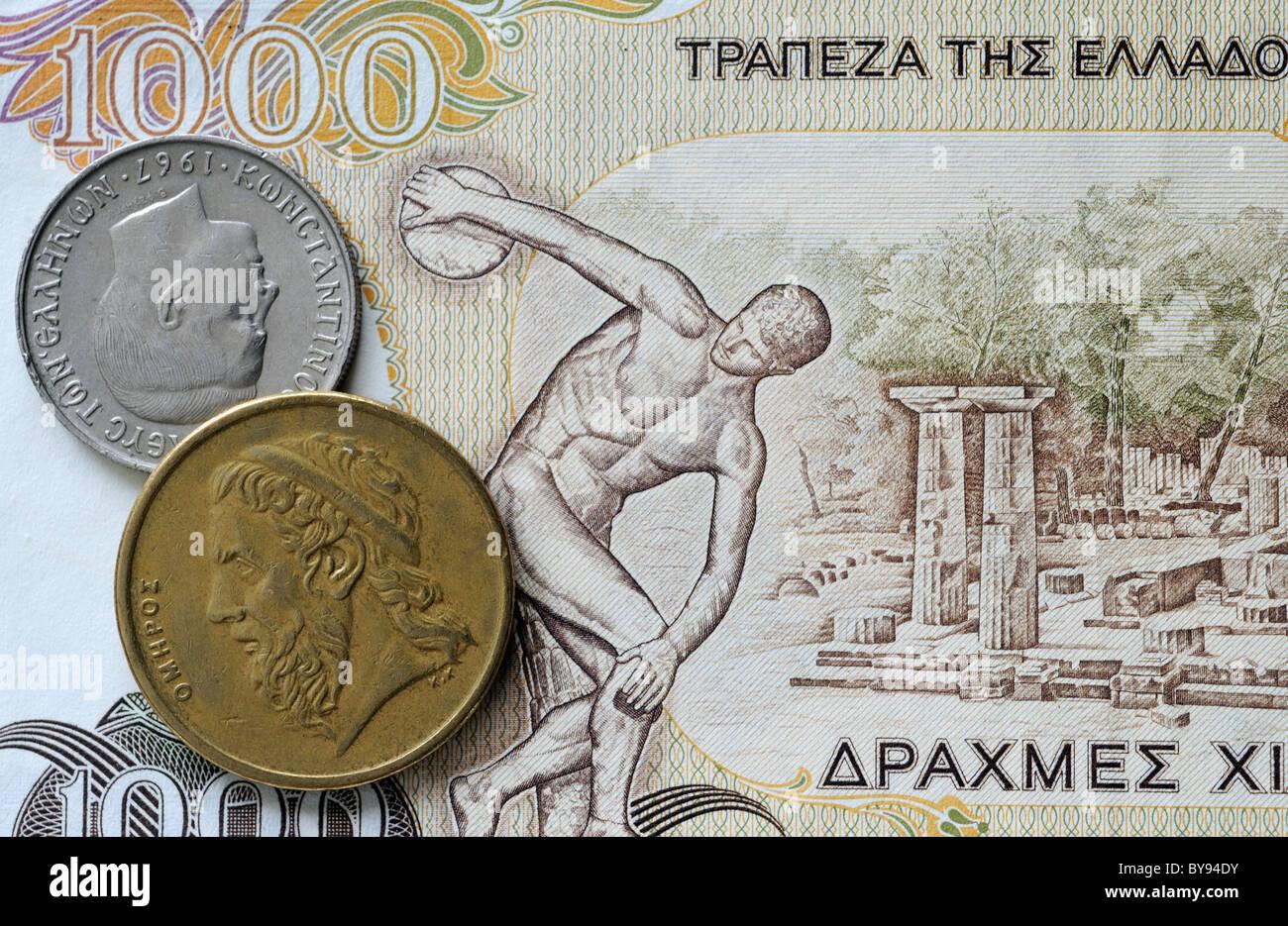Greek drachma - Stock Image