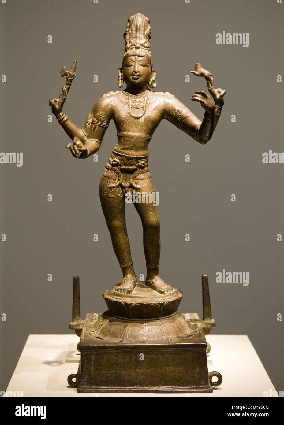 Bronze sculpture of Shiva Vinadhara - India, ca/ 950 (Chola dynasty) - Stock Image