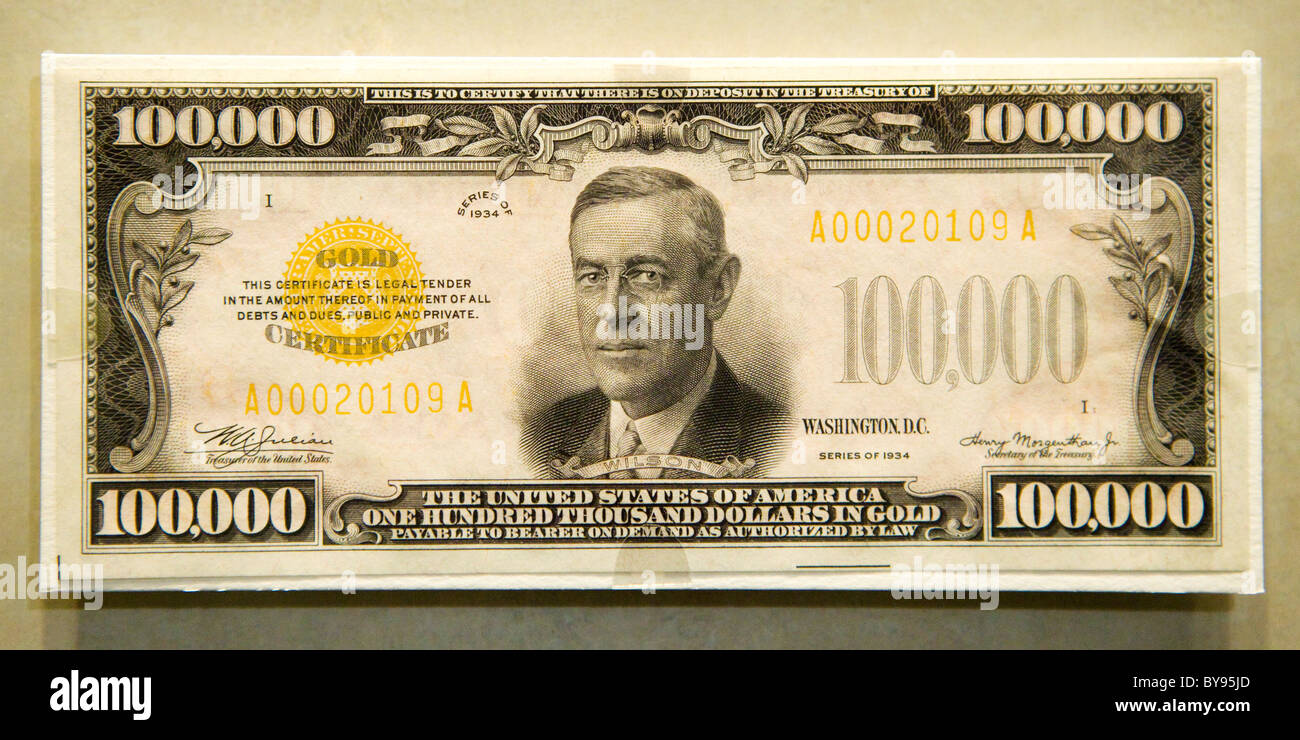 The Completely Real American 100000 Bill