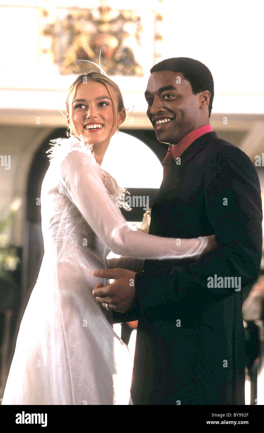 Love Actually  Year : 2003 USA Director : Richard Curtis Keira Knightley, Chiwetel Ejiofor - Stock Image