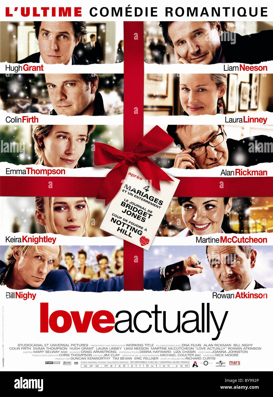 Love Actually  Year : 2003 USA Director : Richard Curtis Movie poster (Fr) - Stock Image