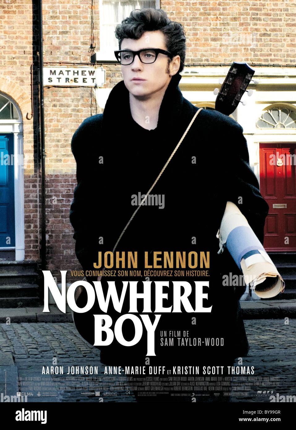 Nowhere Boy Year : 2009 UK / Canada Director : Sam Taylor-Wood Aaron Johnson Movie poster (Fr) - Stock Image