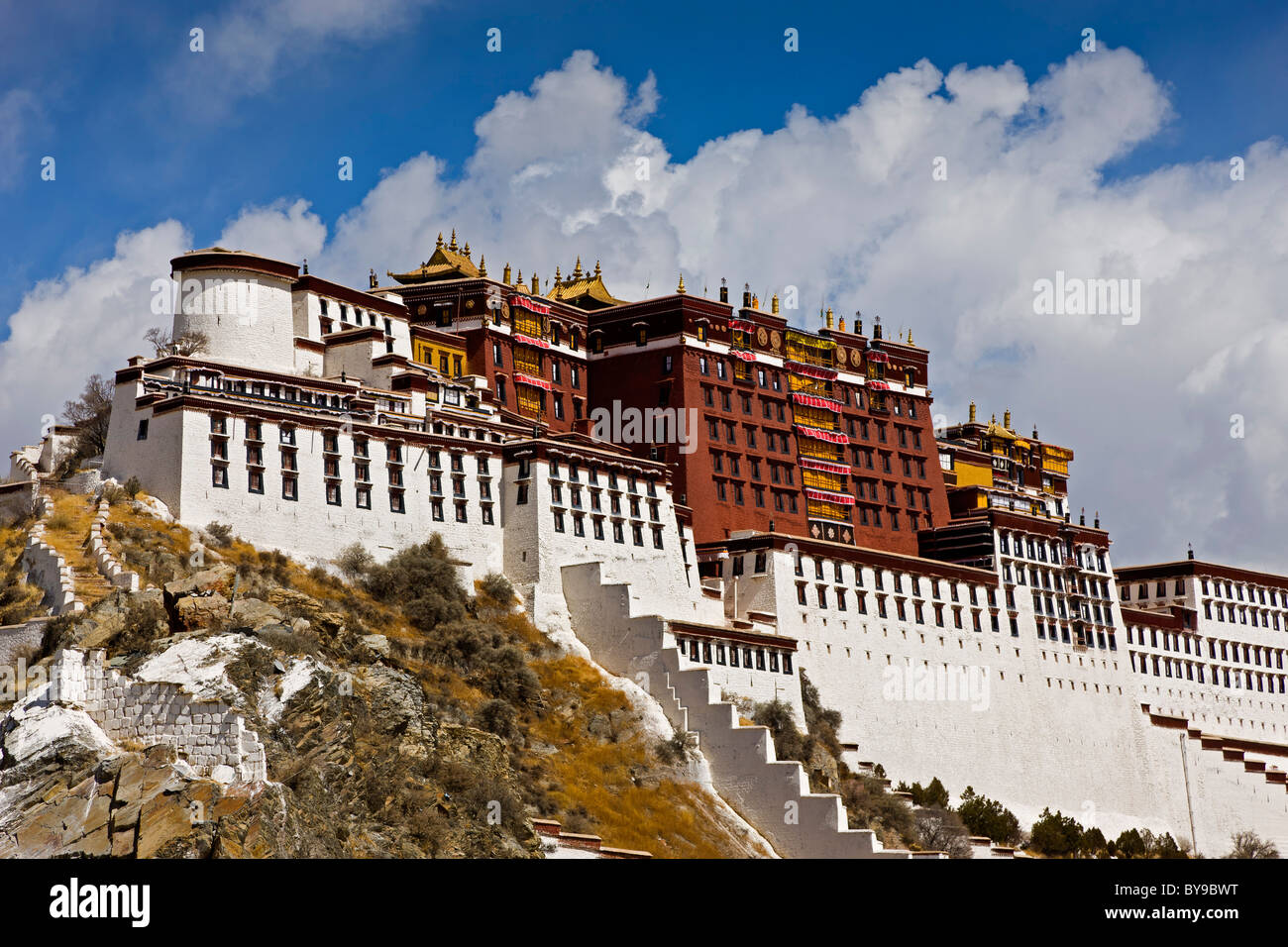 The Potala Palace Lhasa Tibet. JMH4589 - Stock Image
