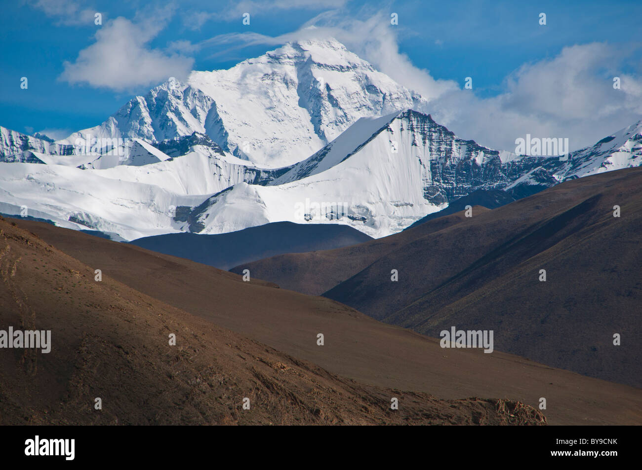 Mount Everest, the highest mountain in the world, Tibet, Central Asia - Stock Image