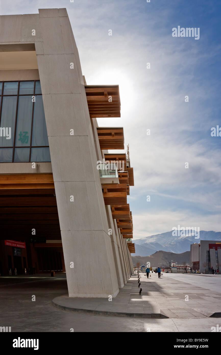 Exterior of the railway station Lhasa Tibet. JMH4616 - Stock Image