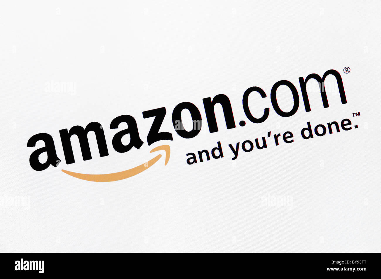 Amazon Online Shopping Website Screenshot - Stock Image