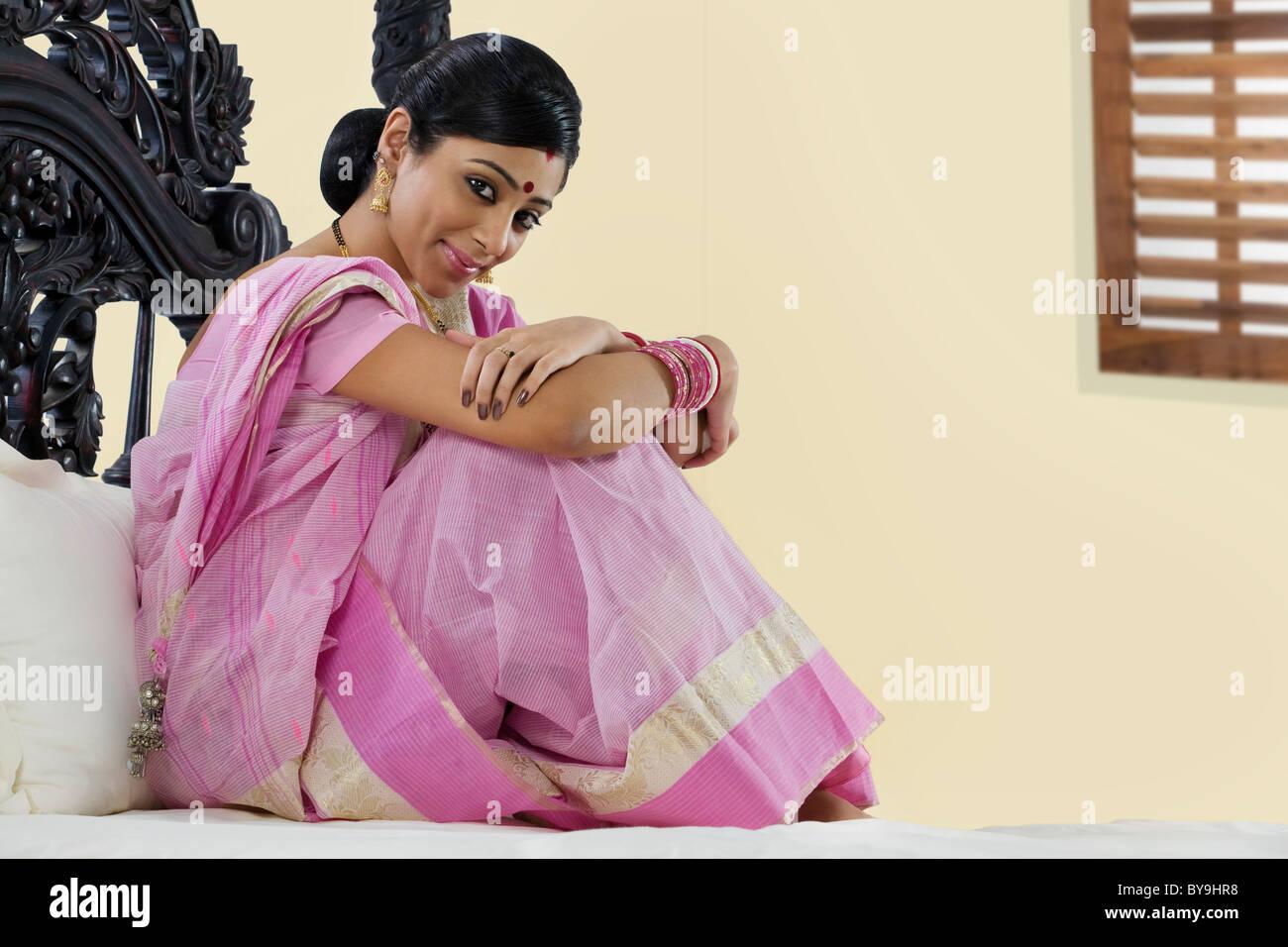 Portrait of a Bengali woman - Stock Image