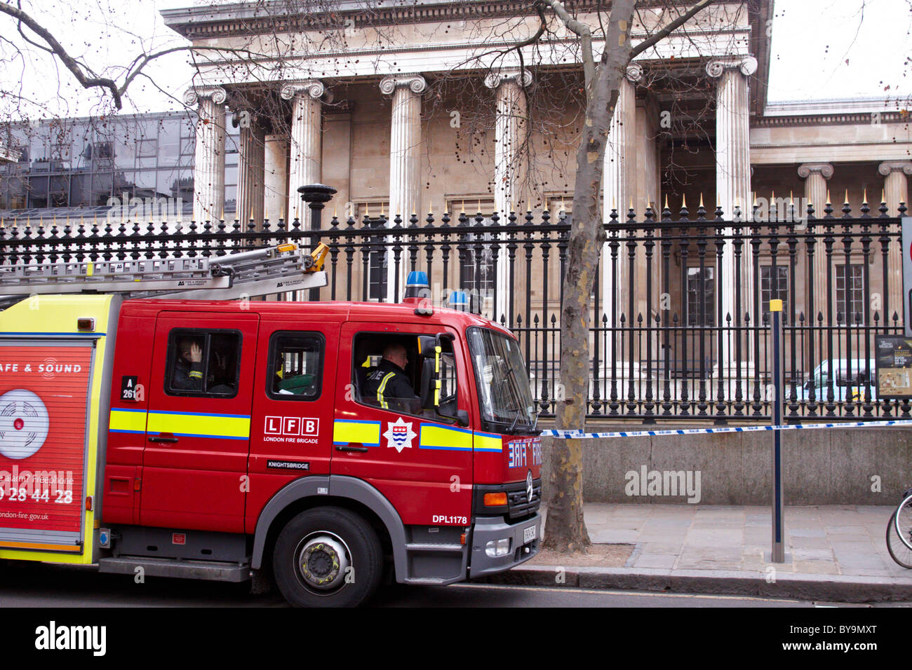 LONDON, UK. The British Museum evacuated due to a chemical alert - Stock Image