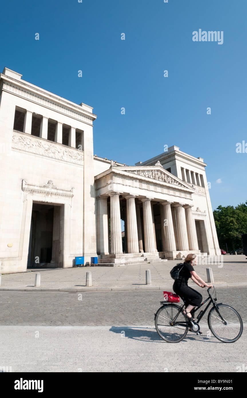 Propylaea at Koenigsplatz, Munich - Stock Image