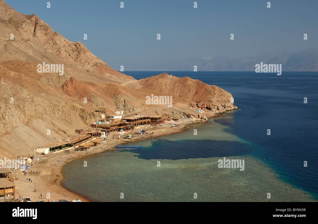 Blue Hole diving location, Dahab, Red Sea, Egypt, Africa - Stock Image