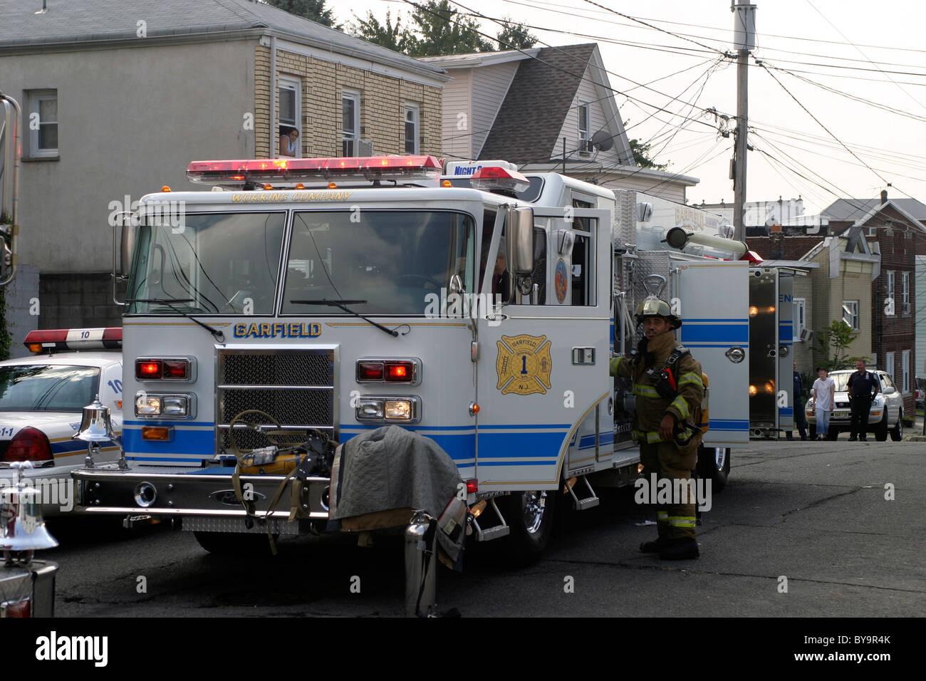 Garfield Nj Pierce Lance Fire Truck Stock Image