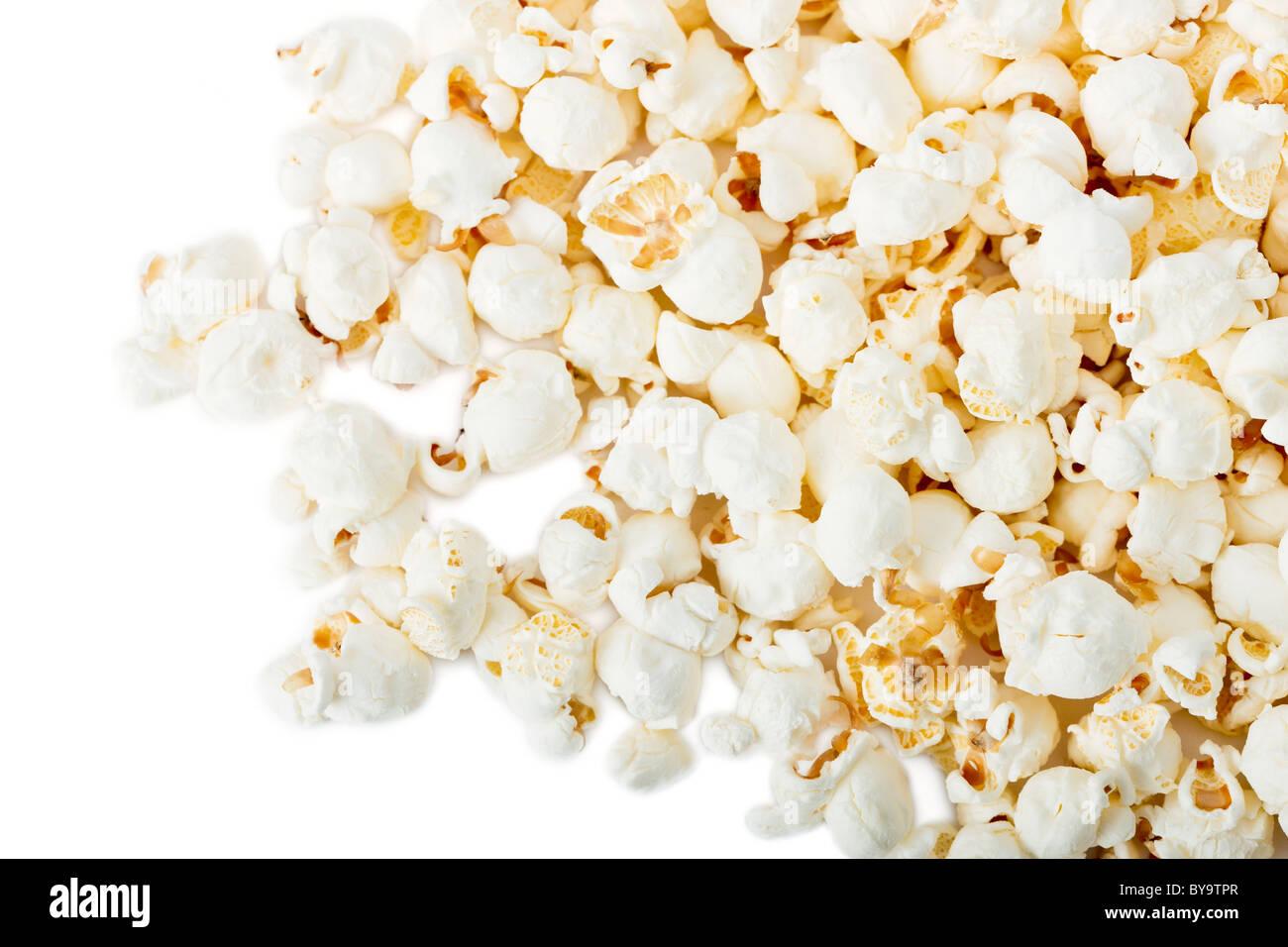 Popcorn isolated on white - Stock Image