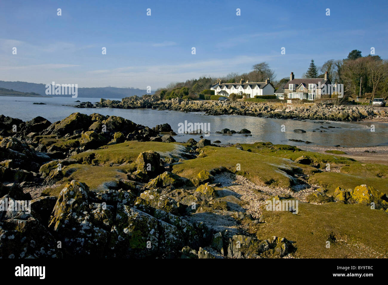 Rockcliffe Beach, Colvend, Solway Firth, Galloway - Stock Image