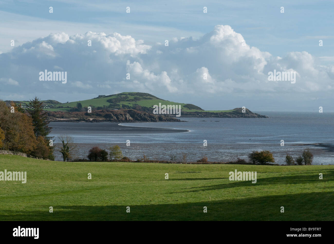Rough Firth and Castle Point, Colvend, Galloway - Stock Image