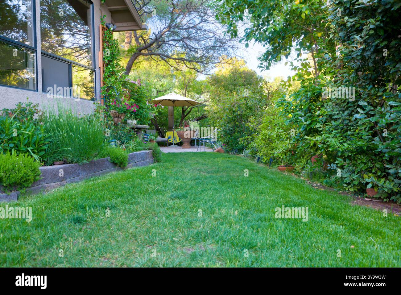 Garden and patio - Stock Image