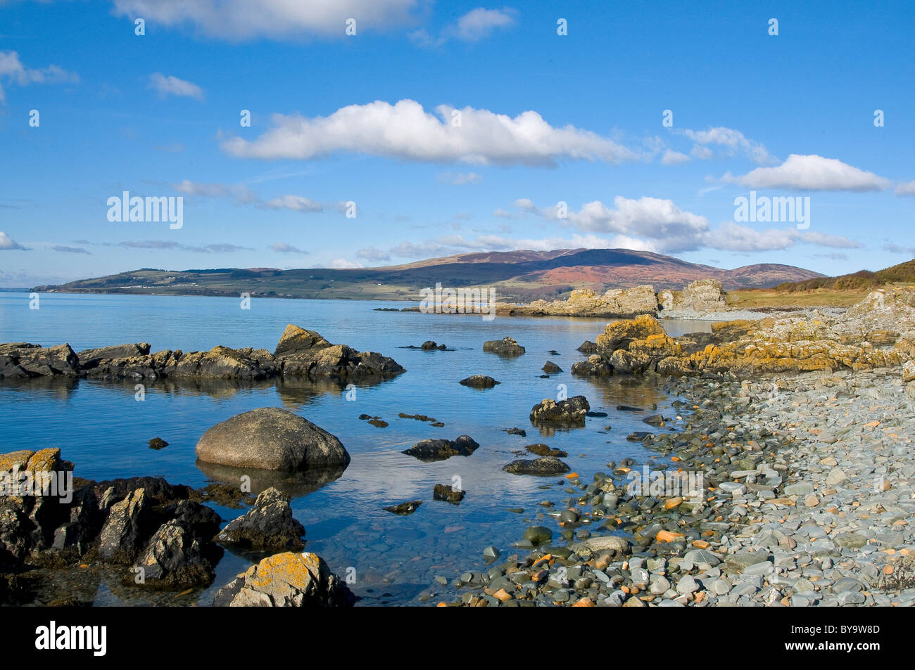 The shore at Carrick Solway Firth and Fleet Bay - Stock Image