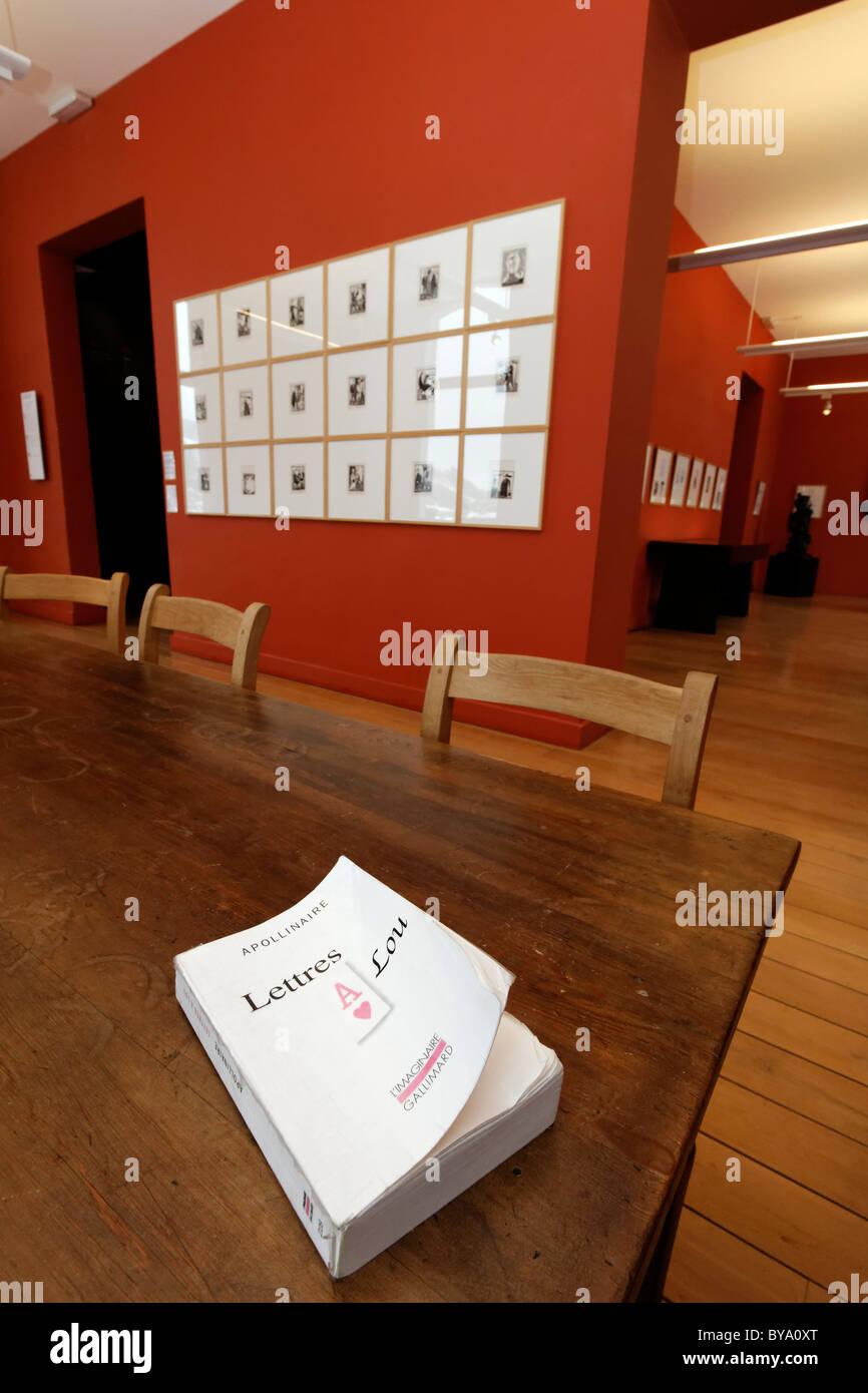 Apollinaire Museum, Stavelot Abbey, Ardennes region, Liège province, Wallonia region, Belgium, Benelux, Europe - Stock Image