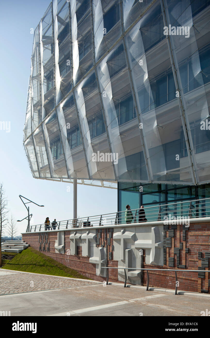 Commercial building, office building 'Unilever Haus', Hamburg, Germany, Europe - Stock Image