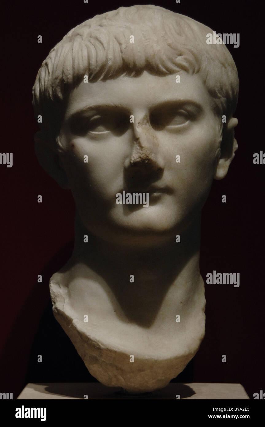 Germanicus Julius Caesar (15 B.C.-19 A.C.). Roman general and consul. Bust. - Stock Image