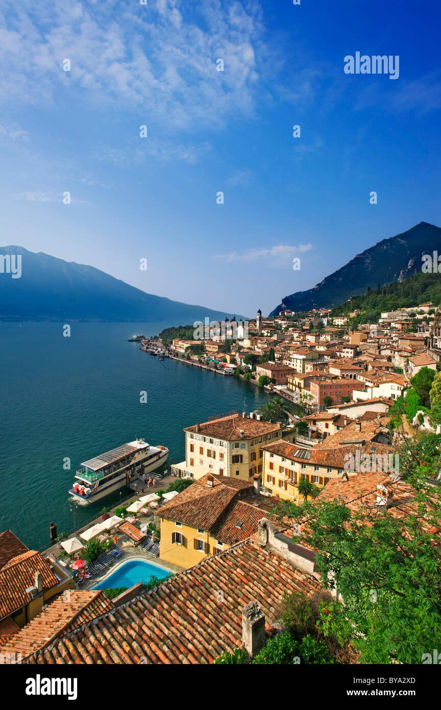 Limone sul Garda on Lake Garda, Lombardy region, Italy, Europe - Stock Image