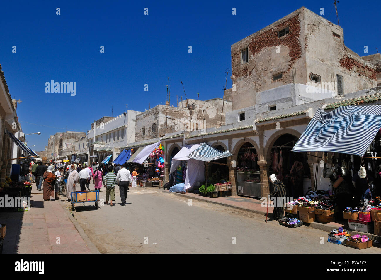 Souk of Essaouira, Unesco World Heritage Site, Morocco, North Africa - Stock Image