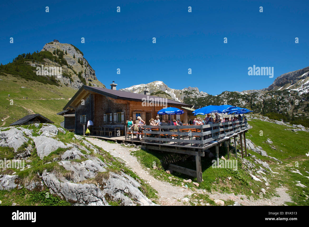 Alpine Hut Below Mt Gschoellkopf In The Rofangebirge Mountains Near Achensee Tyrol Austria Europe