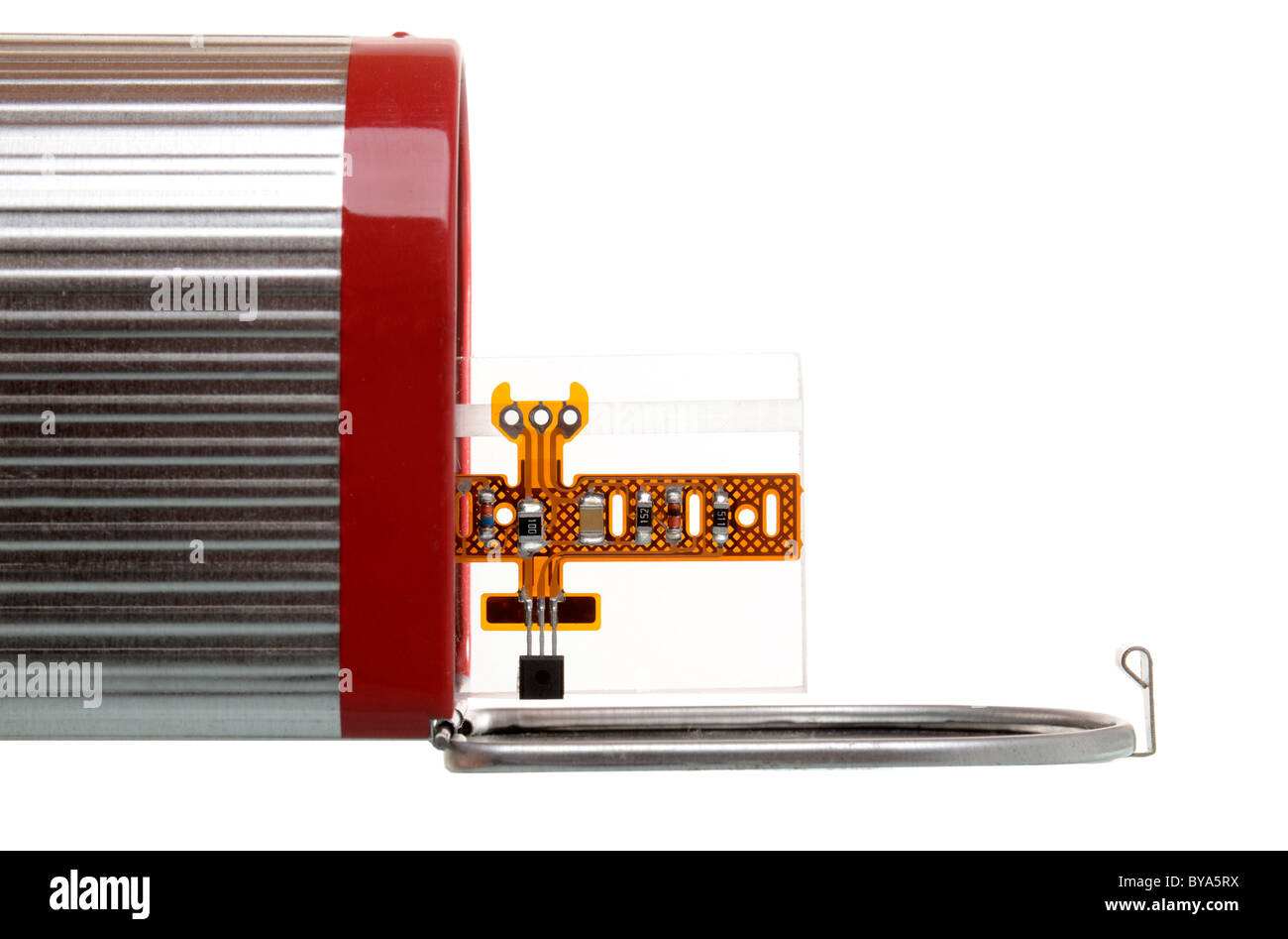 American mailbox with electronic component, symbolic image for electronic mail - Stock Image