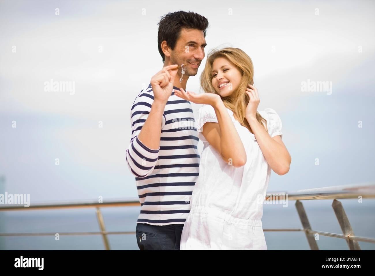 Couple on yacht - Stock Image